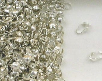 Sterling Silver 3.5mm Clamshell Bead Tips, Choice of Lot Size & Price