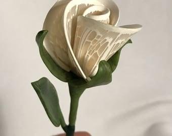 White lace rosebud