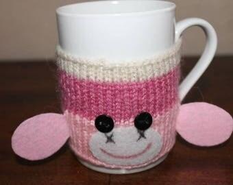 Tea Cup (mug sweater) wool pink monkey