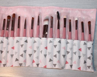 for 15 brushes makeup bag, sold with brushes