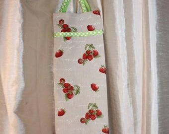 "Purse bread eco-friendly, practical and chic pattern ""Strawberry red"""
