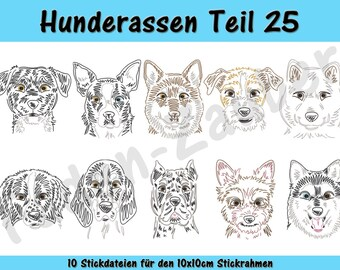 Dog breeds part 25 - embroidery-set for the border 10x10cm
