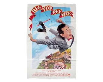 Vintage Big Top Pee Wee Movie Poster 80s Pee Wee Herman Paul Reubens