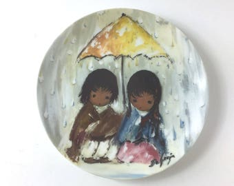 "Vintage (1989) DeGrazia's Children of the Sun ""Sunshowers"" Plate w/COA *Mint*"