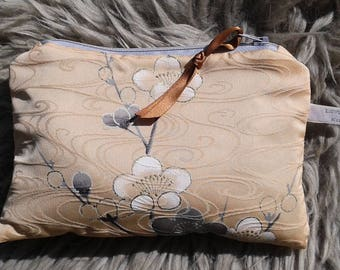 Vintage Kimono make-up bag / purse