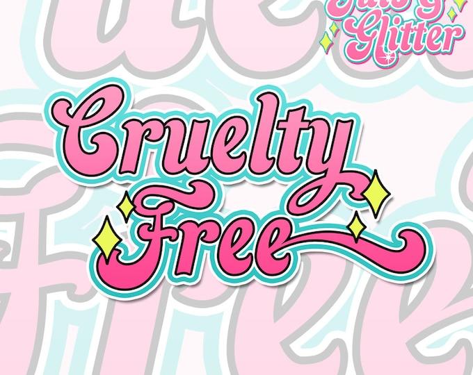 Cruelty Free, Vegan Holographic Sticker