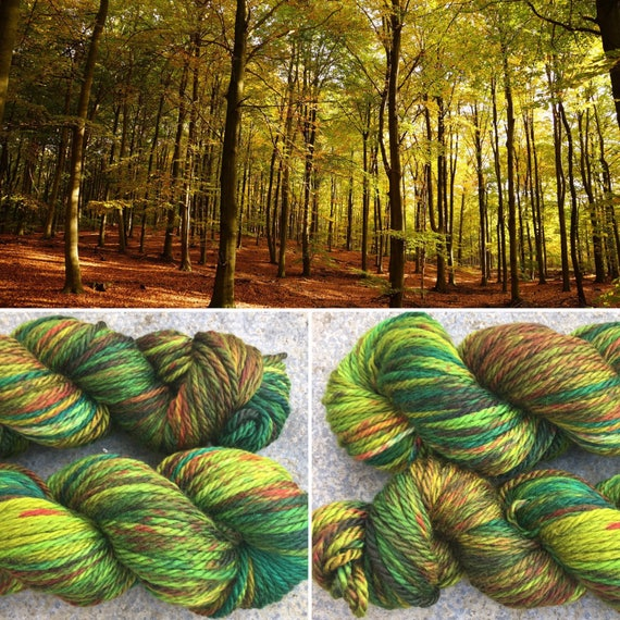 Autumn is Coming, chunky indie dyed superwash merino yarn