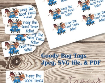 Li'l Blue Truck Goody Bag Tags- Tag Kit - Digital Files- Instant Download