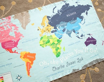 Map Blanket Etsy - World map blanket