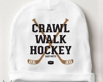 Hockey Baby Beanie Crawl Walk Hockey Infant Hat