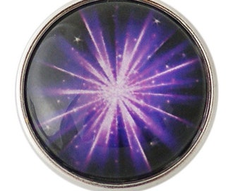 KB2869  Art Glass Print Chunk - Purple Aurora