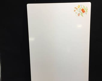 "Rare Vintage 20"" x 14"" Corning Ware Wildflower Design Counter Saver Cutting Board"