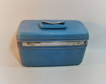Vintage Samsonite Silhouette Train Case, Luggage, Carry On Bag