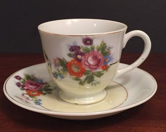 SALE Antique demitasse cup and saucer