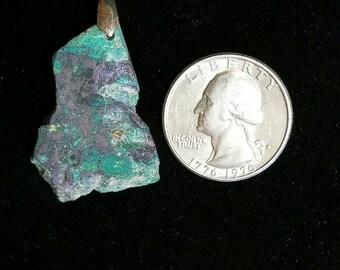 Mexican Green Jasper Sterling Silver Pendant