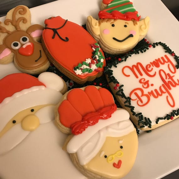 Santa and Friends Cookies (pick up listing)