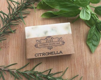 Handmade Organic Goat's milk soap. Citronella