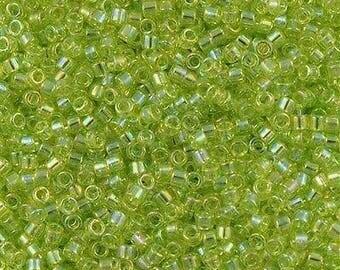 11/0 MIYUKI Delica DB-174 Chartreuse AB 20grams Apple Green