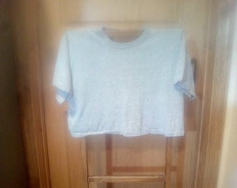 Vintage Champion Cropped Rayon T-Shirt