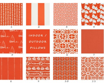Orange, Indoor, Outdoor, Pillow Covers, White, Stripes, Floral, Pillow, Euro, Floor, Cushion, Throw, Toss, Deck, Patio, Summer, Pool, Pillow