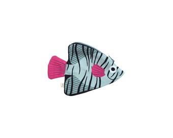 Green BATFISH (green filament)-purse or keychain fish