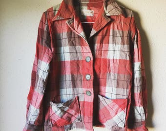 XS/S 49er wool shirt jacket Western Star 1940s 40s 1950s 50s midcentury workwear work wear women's wool shirt jacket XS S extra small fitted