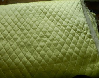 Maize yellow 1950-60s Marriello Quilted Fabric by the yard / 44-45 inches wide