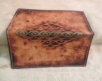 Hand tooled Wallet- Checkbook cover