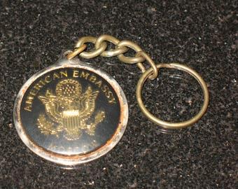 Vintage American Embassy Moscow Key Chain Souvenir