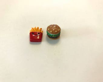 Hamburger and French Fries Needle Minder Set
