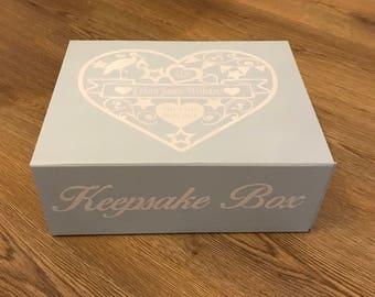New Baby Keepsake Box/Gift for new baby/Christening Keepsake/newborn Baby Girl Gift/Baby Boy Gift/Christening keepsake box/Baby memory box