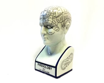 L.N. Fowler Twelve Inch Phrenology Head