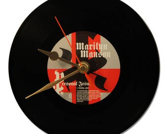 "MARILYN MANSON ""PERSONAL JESUS"" VINYL CLOCK"