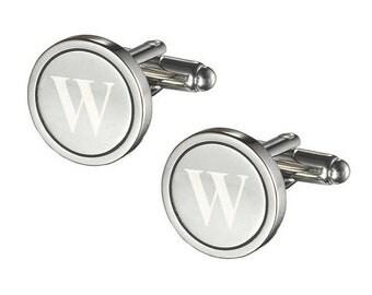 Cufflinks Personalized, Initial letter Cufflinks, Groomsmen Cufflinks, Engraved Cuff Links, Groom Cufflinks, Personalized CuffLinks VCUFF302