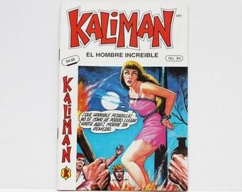Kaliman El Hombre Increible No 94 El Asesino Invisible Revista en Español Spanish Comic RARE