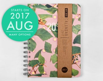 2017 2018 Planner with a high quality paper! Colorful leaves A5 Diary! Weekly daily Calendar Calendario Kalender Agenda Journal! August