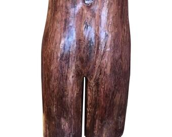 Vintage Carved Wooden Female Figure