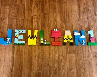 Peanuts Charlie Brown Custom Letters - Snoopy, Woodstock, Pig Pen, Sally Brown