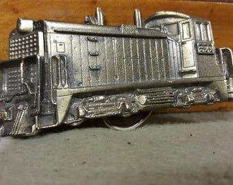 Vintage 1980 Great American Buckle Locomotive 3D Belt Buckle.  Cool! Serial #273