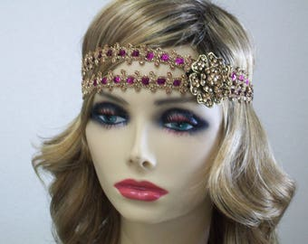 Great Gatsby Headband, 1920s Flapper Dress, 1920s Headpiece, Roaring 20s, Flapper Headband, Sequin Headband, 1920s Hair Accessory