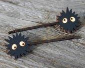 Spirited Away Soot Sprite Laser Cut Wood Bobby Pins