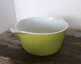 Vintage Pyrex Baking Dish, 1 Quart Casserole Baking Dish , Avocado Green, Pyrex 473, Without Lid, 1 Qt Pyrex Baking Dish