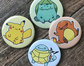 Fat Pokemon Pinback Buttons