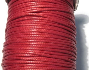 15ft Red Korea Wax Polyester Cord Bracelet Necklace Cord 2mm