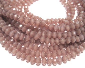 1 Strand Light Purple Faceted Imitation Jade Glass Beads 3mm( No.26)