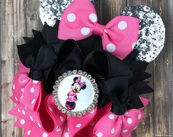 Minnie! Over the top hair bow