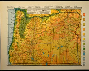 Kentucky Map Kentucky Topographic Map Colorful Colored Topo - Oregon topographic map