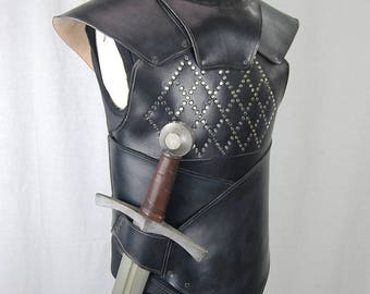 LARP leather armor. Fantasy armor. Party costume. Tvserie cosplay. Medieval armor.