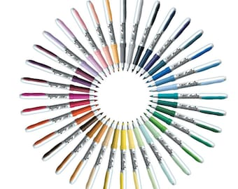 BIC Ultra Fine Point Permanent Markers 36 Count Fashion Assorted Colors, Quick Dry Permanent Markers For School Art Projects, Color Markers