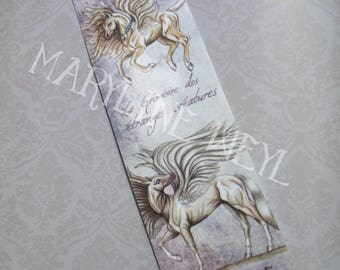 "Bookmark ""book of strange creatures"" winged horse"